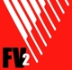 Logo FV2 in rood en wit